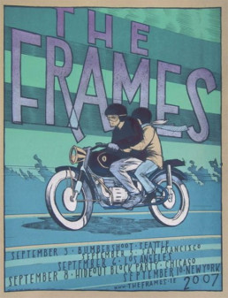 2007 USA Tour poster by Jay Ryan - coupld on moped
