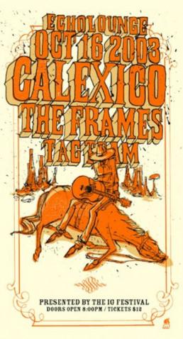 Tour poster w/Calexico 2003