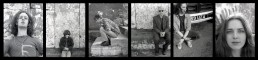 1991 band sitting alonf the sea wall portraits photo strip