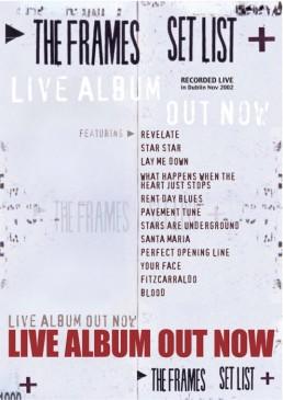 Setlist poster