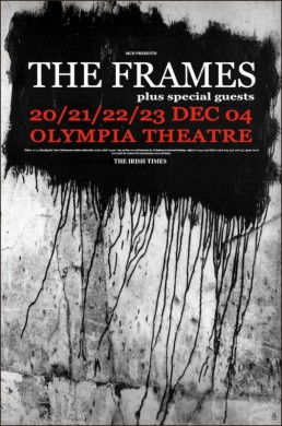 Olympia Theatre Dec 04 gig poster