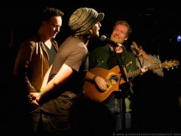 Mic Mundy and Glen on stage at Whelans