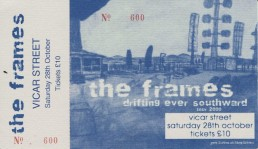 The Frames Vicar Street October 2000 Ticket
