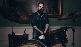 Graham Hopkins portrait at drums