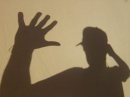 the hand silhouette