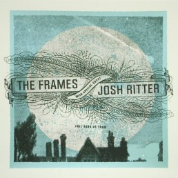 2005 USA Tour with Josh Ritter poster - moon